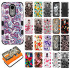 For LG Aristo 2 X210 IMPACT TUFF HYBRID Case Skin Phone Cover + Screen Guard