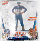 Rubies Marvel Civil War Blue Red Gray Captain America Costume Jumpsuit Child S