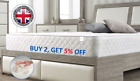 Memory Foam Quilted Sprung Mattress Single 3ft, Double 4ft6, King 5ft Matress