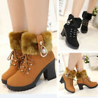 Women's Mother Shoes Short Boots Chunky Heels Casual Martin Shoes Winter Autumn