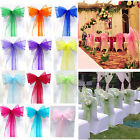 1/200X Organza Chair Cover Sashes Wedding Party Banquet Bow Decoration Reception