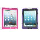 Shockproof Hybrid Heavy Duty Rubber Stand Case Cover iPad 2 3 4 Pink Red Stylus