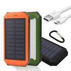 50000mAh Solar Power Bank 2USB LED External Portable Battery Charger For Phone
