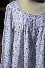 """XL LG Eileen West 48"""" Ballet Cotton Jersey Knit Long Slv Lilac Floral  Nightgown"""