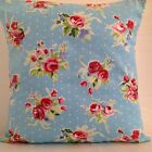 PRETTY FLORAL CUSHION COVERS BLUE WHITE POLKA DOT ROSE AZURE SHABBY 'N' CHIC