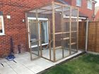 Catio / Cat Lean to 8ft x 8ft x 8ft tall with ladders and shelves secure run