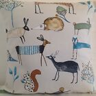 CUSHION COVER OH MY DEER MARMALADE MULTI COLOURED FOX HEDGEHOG HARE SQUIRREL