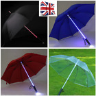 UK Women Men LED umbrella Star Wars Ultimate fx Lightsaber Rain Sun Umbrella £10.49 GBP