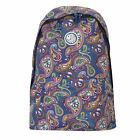 PRETTY GREEN MULTI-COLOURED PAISLEY PATTERN BACKPACK