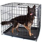 Folding Metal Pet Crate with Plastic Pan Liner | Home Kennel Cage Your Dog & Cat