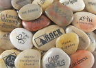 Engraved River Rock Word Stones Various Phrases Sets of 3s, 4s, 5s, Bulk Lots