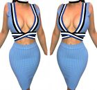 Sexy Women Summer Bare Midriff Bodycon Evening Party Cocktail Club Mini Dress