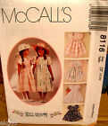 McCall's 8116 Toddlers Girls Dress Pattern MANY SIZES OOP VINTAGE UNCUT