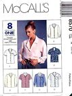 McCall's 8570 Misses Blouse, Top Pattern MANY SIZES OOP VINTAGE UNCUT