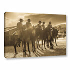 cowboy talk - Andrew Lever's 'Cowboy Talk ' Gallery Wrapped Canvas