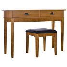 New Wiltshire Dressing Table with/without Stool or Stool Only - Oak & Oak Veneer