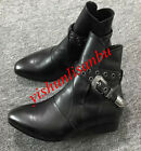 British Men Pointed Toe Buckle Fashion Ankle Boots Dress Formal Leather Shoes 17