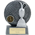 GOLF GOLFER TROPHY 4 SIZES AVAILABLE ENGRAVED FREE RESIN SILVER COLOUR GOLFING