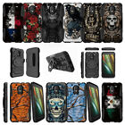 For Motorola Moto E3 XT1700 Holster Dual Layer Clip Case Kickstand - Tough Art