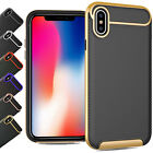 Shockproof Carbon Fibre Thin TPU Leather Case Cover For Apple iPhone X iPhone 10