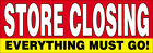 STORE CLOSING Vinyl Banner Clearance Sale Sign 2, 3, 4, 6, 8, 10, 12, 20  Ft rb