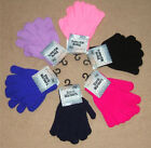 KIDS THERMAL KNITTED MAGIC GLOVES - 6 COLOURS-  WINTER WARMTH FOR COLD HANDS