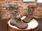 Bare Traps Rei Taupe Suede Water Repellant Faux Fur Winter Boot New