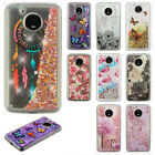 Motorola Moto E4 PLUS Liquid Glitter Quicksand Hard Case Phone Cover Accessory