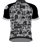 Men's San Vicente CYCLING SHORT SLEEVE JERSEY in Grey Made in Italy by GSG