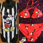 DISNEY Ladies MICKEY MOUSE Red Black  Bikini or Swimming Costume Primark BNWT