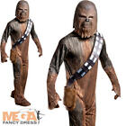 Chewbacca Mens Star Wars Fancy Dress Halloween Wookie Adults Costume Outfit New
