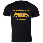 Funny VW Beetle Volkswagen Convertible Topless Printed T Shirt 5 Colours New