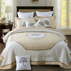 Patchwork Coverlet Quilted Bedspreads Set Queen/King Size Throw Rug Bed Blanket