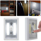 COB LED Wall Switch Magnet Closet Cordless Night Light Battery Operated Lamp