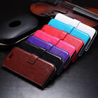 PU Leather Flip Cover Slots Wallet Stand Case Pouch For Sony Xperia Phones 11