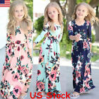 green children - Kids Fashion Girls Long Sleeve Dresses Floral Maxi Dress Outfit Holiday Party US
