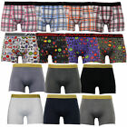 Mens Boxers Underwears Shorts Trunks Checcked Flags Brazil England France Casual