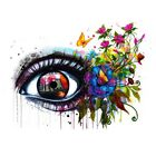 Внешний вид - Abstract Multi-colored Eye Paint By Number Kit Canvas Art Painting Home Decor