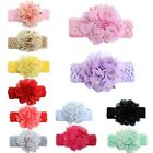 Girl Flower Bow Headband Lace Elastic Band Hairband Hair Accessories