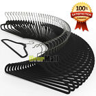 100 Pack Premium Velvet Suit Hangers Heavy Duty Non Slip Suit Hangers Black USA