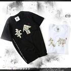 street oriental chinese calligraphy ukiyoe embroidery graphic tee【J1A9008】