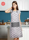 Men/Women Basic Cotton Printed 3 Pcs Apron Oven Mit Pot Holder Set Master Chef
