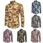 Men's  Fashion T-shirt Shirt Leisure Hawaiian Shirts Camo Printed Shirt