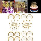 """11/20/40pcs Gold """"Happy Birthday"""" Letter Cake Topper Party Supplies Decoration"""