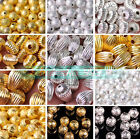 Wholesale 4mm 5mm 6mm 8mm 10mm 12mm Round Charms Spacer Metal Beads Findings