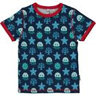 *NEW IN* Maxomorra Deep Sea Organic Cotton Short Sleeve Top T-Shirt