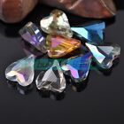 5pcs 22x18mm Heart Glass Crystal Charms Faceted Findings Loose Spacer Beads