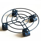 9.8~15.8'' Garden Plant Pot Round Wheels Mover Trolley Rolling Plate Metal Stand