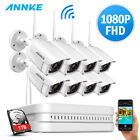 ANNKE Wireless 1080P 8CH /4CH NVR 720P/960P Dusk Vision Security Camera System
