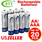 lycamobile usa recharge - US 4-20X BTY AA / AAA Rechargeable Battery Recharge Batteries 1.2V 3000mAh Ni-MH